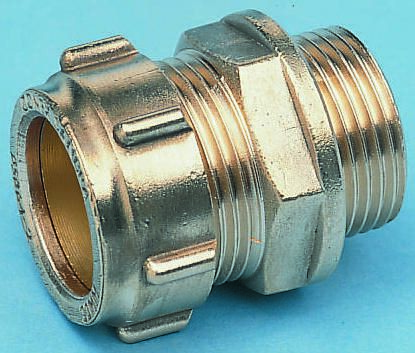 10mm x 1/2 in BSPP Male Straight Coupler Brass Compression Fitting product photo