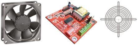 Fan Kit, ebm-papst, 4314-KR0 DC 170m³/h 2300rpm 4314 Axial Fan, Fan Controller, Fan Guard 5W 12 → 28 V dc