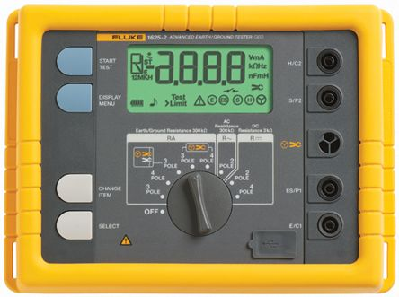 Fluke 1625 Earth & Ground Resistance Tester 300kΩ CAT II 300 V