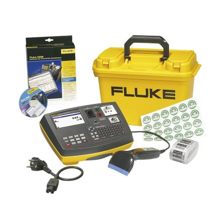 Fluke 6500-2 PAT Tester Kit, Kit Contents Crocodile clip, Mains cord, Storage case, Test lead, Test probe, USB cable,