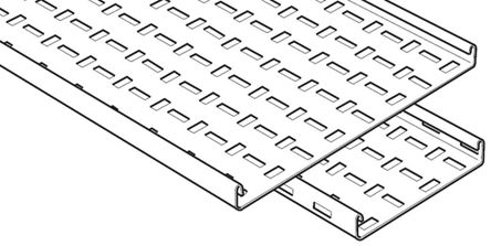 Legrand Medium Duty Tray Cable Tray, Pre-Galvanised Steel 3m x 100 mm x 25mm