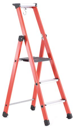 TUBESCA Fibreglass Step Ladder 6 steps 3.35m open length