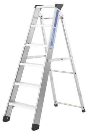 Zarges Aluminium Step Ladder 8 steps 1.73m open length