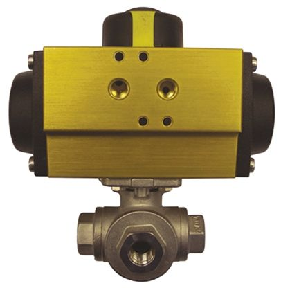 Actuated Valve Stainless Steel 3 Way, 1-1/2in Pipe Size product photo
