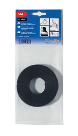 HellermannTyton Black Hook & Loop Tape, 1m x 13 mm
