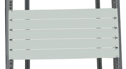 19-inch Blanking Panel, 10U, Grey, Steel product photo