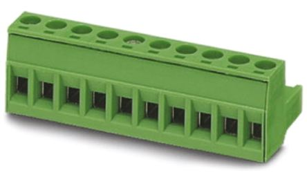 Phoenix Contact COMBICON MSTB Series 5mm Pitch Straight Pluggable Terminal Block, Plug, Plug-In, 16 Way