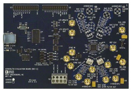 Analog Devices AD9958/PCBZ, Direct Digital Synthesizer (DDS) Evaluation Board for AD9958