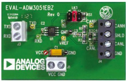 Analog Devices CAN Bus Evaluation Board for ADM3051, EVAL-ADM3051EBZ