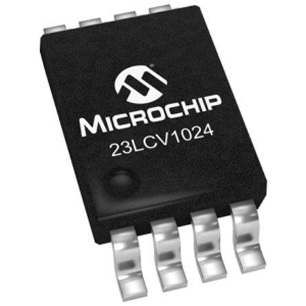 Microchip SRAM Memory, 23LCV1024-I/ST- 1Mbit
