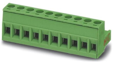 Phoenix Contact COMBICON MSTB Series 5.08mm Pitch Straight Pluggable Terminal Block, Plug, Plug-In, 10 Way