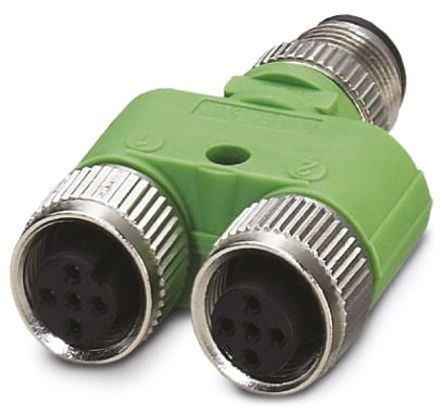 SAC Series M12 Surface Mount Connector, 5 Pole, Male and Female Contacts product photo