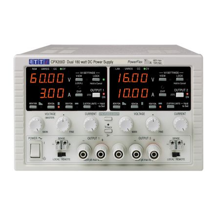 Power supply dual O/P 60V max - 10A max