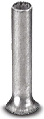 A 10 -12 Series Crimp Bootlace Ferrule, 11.8mm Pin Length, 4.5mm Pin Diameter, 10mm² Wire Size product photo