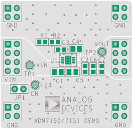 Analog Devices ADM7150CP-EVALZ Linear Regulator for ADM7150 Evaluation Board