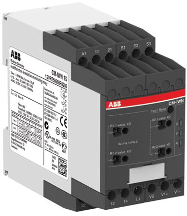 ABB Insulation Monitoring Relay With DPDT Contacts, 24 → 240 V ac/dc