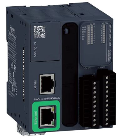 Schneider Electric Modicon M221 PLC CPU, Ethernet, ModBus, Profibus DP, USB Networking Mini USB Interface