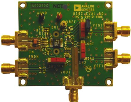 Analog Devices TruPwr 3.8GHz RF Power Detector Evaluation Board for AD8362