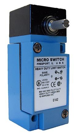 IP65, IP66, IP67 Snap Action Limit Switch Rotary Lever Die Cast Zinc,  2NO/2NC, 600V