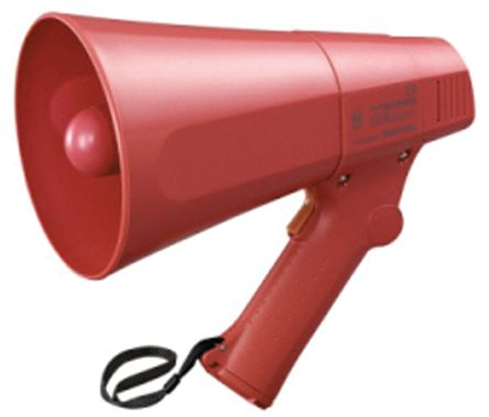 Red Hand Grip Megaphone, ER-520S, 6 W, Siren product photo