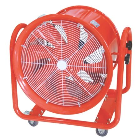 RS PRO Floor, Heavy Duty Fan 9000m³/h 500mm blade diameter 1 speed 220 → 240 V with plug: VDE