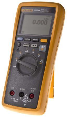 Fluke 3000 FC Handheld Digital Multimeter, 400mA ac 1000V ac 400mA DC 1000V dc