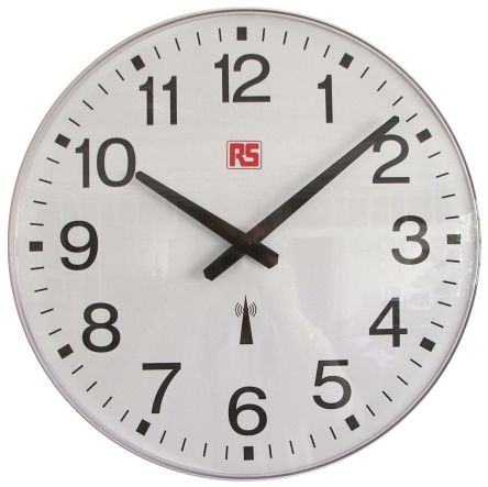 Radio Controlled White Wall Clock, 420mm product photo