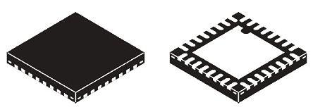 EXAR Dual-Channel, QFN UART Interface IrDA, RS232, RS485 3Mbit/s, 3.3 V, 32-Pin XR28V382IL32-F