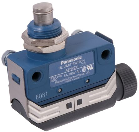IP67 Momentary Action Limit Switch Plunger, NO/NC, 250V