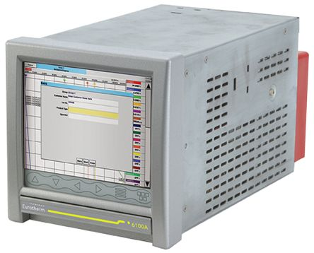 Eurotherm 6100A, 12 Channel, Paperless Chart Recorder Measures Current, Millivolt, Resistance, Voltage