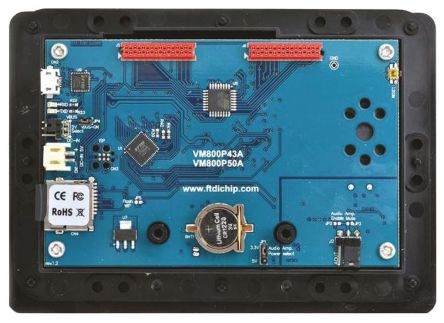 VM800P35A-BK, FT800 EVE Plus 3.5in Resistive Touch Screen Evaluation Module With Black Bezel product photo