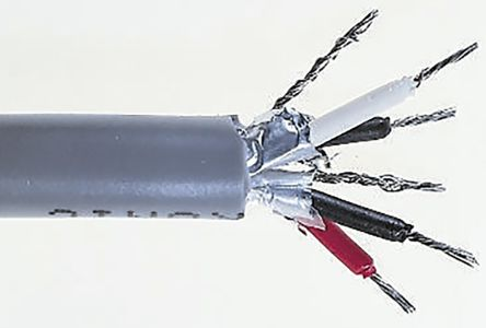 2 Pair Tinned Copper Multipair Industrial Cable 0.2 mm²(Euroclass Eca) Grey 100m product photo