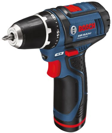 Bosch Autolock GSR 12V, 2Ah Li-ion Cordless Drill, UK Plug