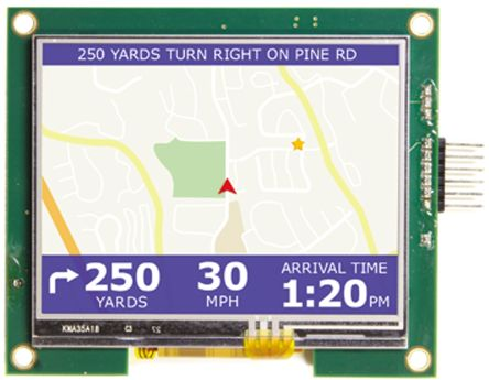 Displaytech EMB035TFTDEMO, 3.5in Colour LCD Display Demonstration Board for Microchip Tools