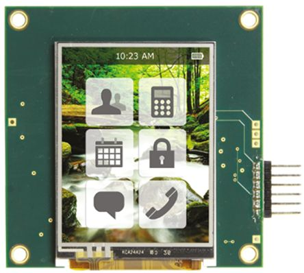 Displaytech EMB024TFTDEMO, 2.4in Colour LCD Display Demonstration Board for Microchip Tools
