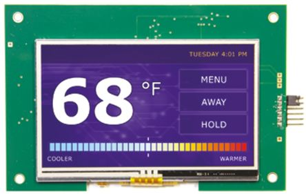 Displaytech EMB043TFTDEMO, 4.3in Colour LCD Display Demonstration Board for Microchip Tools