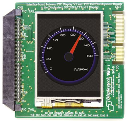 Displaytech EMB028TFTDEV, 2.8in Colour LCD Display Development Board for Microchip Tools