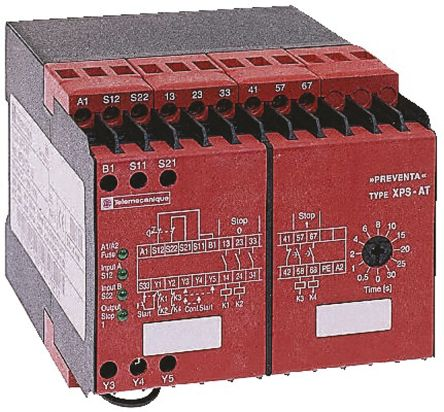 Schneider Electric 115 V ac Safety Relay Dual Channel With 3 Safety Contacts and 1 Auxilary Contact