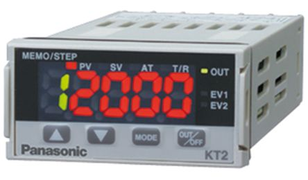 KT2 PID Temperature Controller, 48 x 24mm, 1 Output Relay, 100 -> 240 V ac Supply Voltage product photo