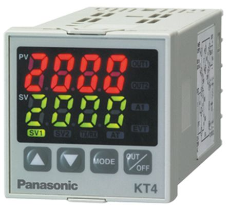 KT4 PID Temperature Controller, 48 x 48mm, 1 Output Voltage, 24 V ac/dc Supply Voltage product photo