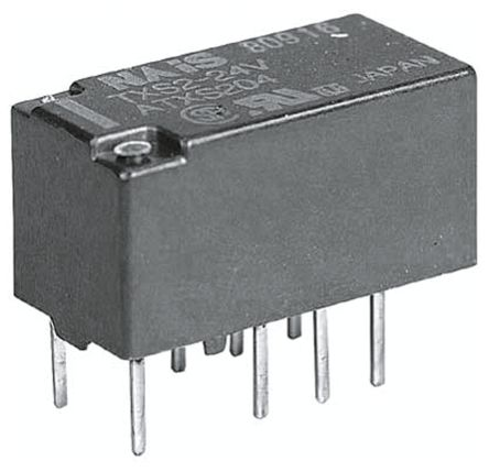 DPDT PCB Mount Latching Relay 1 A, 12V dc For Use In Telecommunications Applications product photo