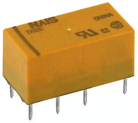 DPDT PCB Mount Latching Relay 3 A, 24V dc For Use In Telecommunications Applications product photo