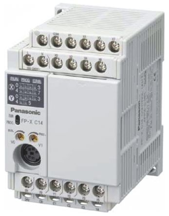 AFPX-C Series PLC CPU, Ethernet Networking 3-Wire, USB Interface, 16 Steps Program Capacity, 8 Inputs product photo