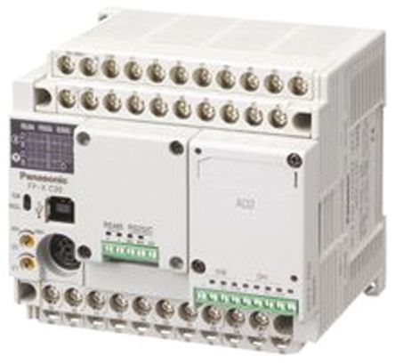 Panasonic AFPX-C Series PLC CPU, Ethernet Networking 3-Wire, USB Interface,  32 Steps Program Capacity, 32 Inputs, 28