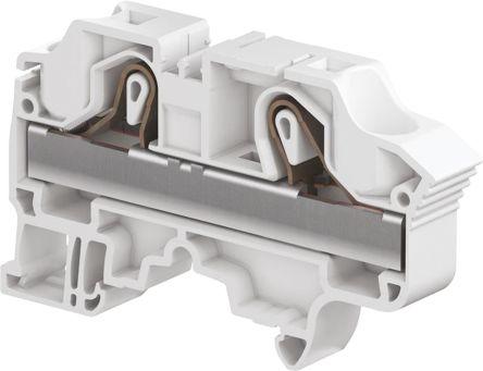 Entrelec Standard Din Rail Terminal, ZK16 Series , 16mm², 1 kV, 76A, Spring Clamp Termination, Blue, Single Level