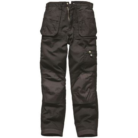 Eisenhower Black Men's Cotton, Polyester Trousers Imperial Waist 36in product photo