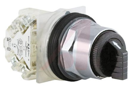 3 Position ±70° Push Button Switch, 125 V dc, 240 V ac, 3 A ac, 550 mA dc product photo