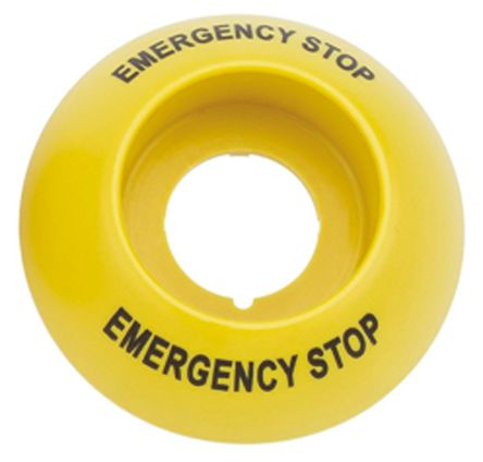 """Switch """"EMERGENCY STOP"""" Label and Collar"""