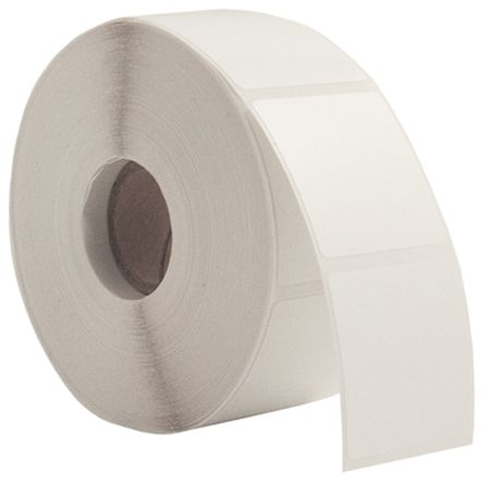 KROY Gloss White Poly Label 38mm x 38mm