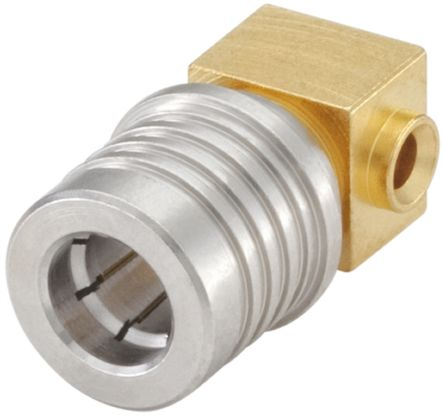 Right Angle 50O Cable Mount QMA Connector Plug, Solder Termination, RG405, UT85 product photo
